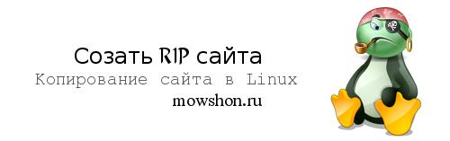 Создать копию сайта (RIP) на Linux